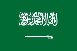 Drapeau de l'Arabie Saoudite où le docteur Couillard a pratiqué le métier de neurochirurgien.