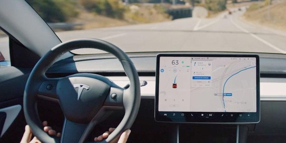 Intérieur d'une Tesla