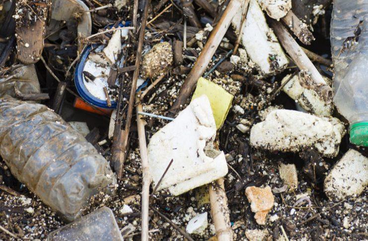 Déchets de plastique