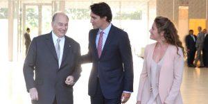 L'Aga Khan et Justin Trudeau
